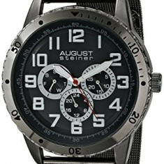 August Steiner Men's AS8115BK Multifunction | 100% original, import SUA, 10 zile lucratoare a12107 - Ceas barbatesc August Steiner, Casual, Quartz