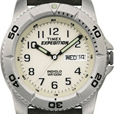Timex Men's EXPEDITION Brown Leather   100% original, import SUA, 10 zile lucratoare a42707 - Ceas barbatesc Timex, Quartz