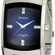 Armitron Men's 204507DBSV Stainless Steel | 100% original, import SUA, 10 zile lucratoare a42707 - Ceas barbatesc Armitron, Elegant, Quartz, Otel
