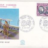 Bnk fil Franta 1972 FDC - aerofilatelie - Maryse Hilsz