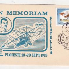Bnk fil Romania aerofilatelie plic ocazional 70 ani moarte Aurel Vlaicu