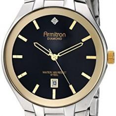 Armitron Men's 20 4999BKTT Diamond-Accented | 100% original, import SUA, 10 zile lucratoare a42707 - Ceas barbatesc Armitron, Elegant, Quartz