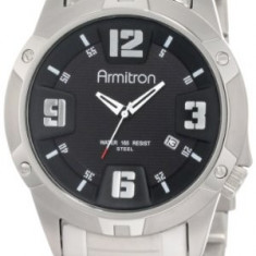 Armitron Men's 204692BKSV Stainless-Steel and | 100% original, import SUA, 10 zile lucratoare a42707 - Ceas barbatesc Armitron, Quartz, Otel