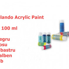 VOPSEA Acrilica. Set 5 X 100 ML. Vopsea acrylica. Unghii, Pictura. SIGILATE - Model unghii