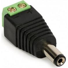 Mufa alimentare camere supraveghere 5.5mm*2.1mm cu prindere, Conector