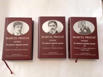 Marcel Proust    IN CAUTAREA TIMPULUI PIERDUT,3 VOLUME foto