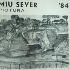 Miu Sever catalog expozitie pictura 1984 Bucuresti casa Petofi Sandor