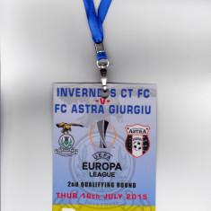 Acreditare meci fotbal INVERNESS CT - ASTRA GIURGIU (Europa League 16.07.2015) - Bilet meci