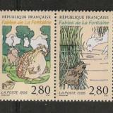 Franta.1995 Fabule de J. de la Fontaine-streif SF.785 - Timbre straine