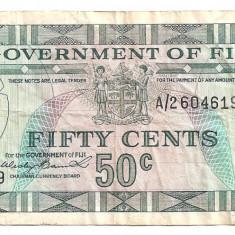 FIJI 50 CENTS ND(1969) F