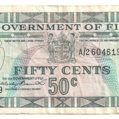 FIJI 50 CENTS ND(1969) F