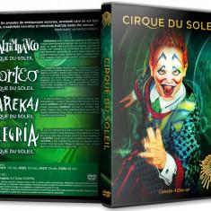 CIRQUE DU SOLEIL - Colectie 4 DVD-uri, Romana