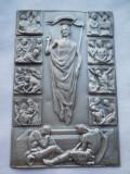 Veche Icoana buzunar tip carte Drumul Crucii avand detalii Splendide Rara