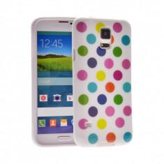 Husa silicon DOTS POLKA Samsung Galaxy Note 4 N910 + folie ecran cadou