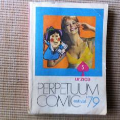 Perpetuum comic urzica 79 estival 5 hobby almanah 1979 carte caricaturi umor