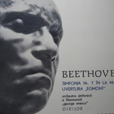Beethoven - Simfonia 7 si Uvertura Egmont, vinil - Muzica Clasica electrecord