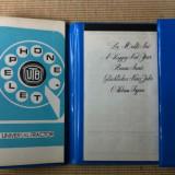 Agenda Universal Tractor UTB telefon calendar notes 1978 epoca de aur rar hobby