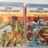 Jules Vernes COPII CAPITANULUI GRANT{2 VOLUME, CARTONATE}, RF1/3 - Carte poezie copii