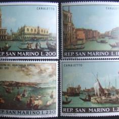 SAN MARINO 1971 - VEDERI PICTATE 4 VALORI, NEOBLITERATE - SM 025