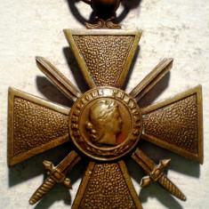 5.012 FRANTA WWI CRUCEA DE RAZBOI 1914 1918 2 STELE, Europa
