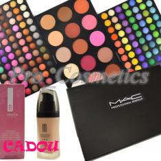 Trusa machiaj Mac Cosmetics profesionala cu 183 culori MAC Anglia + CADOU Fond de Ten