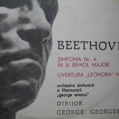 Beethoven - Simfonia 4 si Uvertura Leonora, vinil - Muzica Clasica electrecord