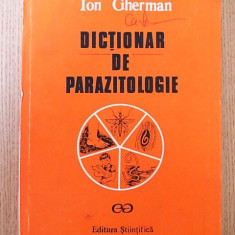 DICTIONAR DE PARAZITOLOGIE- GHERMAN