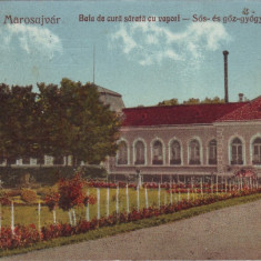 #1665- Romania, Uioara, Marosujvar, c.p. circulata 1926: Baia de cura sarata, Fotografie, Ocna Mures