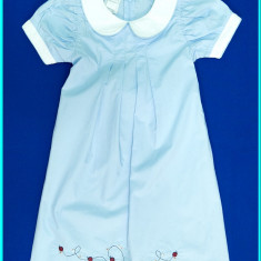 DEOSEBITA→ Rochie de vara, bumbac cu broderie, KANZ → fetite | 3—4 ani | 104 cm, Marime: Alta, Culoare: Bleu