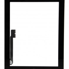 Touchscreen touch screen Digitizer Apple iPad 3 A1430 A1416 cu buton home si adeziv Negru Geam Sticla Tableta