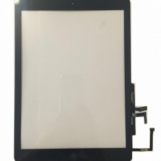 Touchscreen touch screen Digitizer Apple iPad Air A1475 A1474 cu buton home si adeziv Negru Geam Sticla Tableta