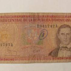 CY - 5 pesos 1982 Republica Dominicana - bancnota america