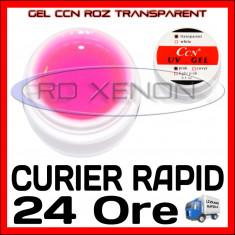 GEL UV ROZ TRANSPARENT CCN 15ML - CONSTRUCTIE MANICHIURA, UNGHII FALSE GEL
