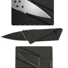 Cutit pliabil tip card original Iain Sinclair, perfect pentru portofel - Briceag/Cutit vanatoare