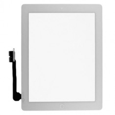 Touchscreen touch screen Digitizer Apple iPad 4 A1459 A1458 cu buton home si adeziv Alb Geam Sticla Tableta