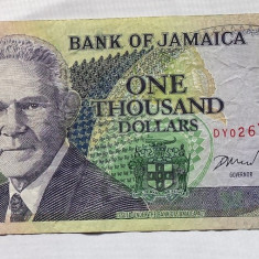 Jamaica 1000 Dollars 2004 P#86b - bancnota america