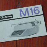 Brosura / pliant de prezentare masina de scris Optima M16 !!!