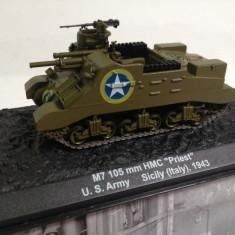 Macheta tanc M7 105mm - Sicily - 1943 scara 1:72 - Macheta auto