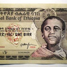 90. ETHIOPIA ETIOPIA 1 BIRR 2000 2008 AUNC SERII CONSECUTIVE SR. 389-390 - bancnota africa