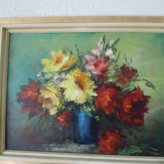 tablou pictura ulei flori