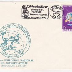 Bnk fil Plic ocazional astrofilatelie Interastrofilex 1987 Botosani