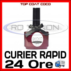 TOP COAT UV COCO PRO 14ML - MANICHIURA UNGHII FALSE GEL UV FRENCH - CALITATE MAX - Gel unghii