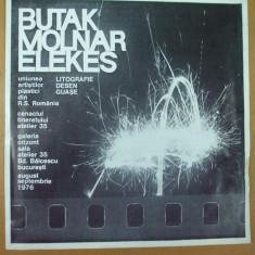 A. Butak L. Molnar K. Elekes catalog expozitie litografie desen guase 1976