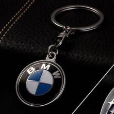 Breloc auto metalic rotund + cutie simpla cadou