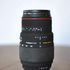 OBIECTIV SIGMA 70-300 F/4-5.6 DG APO MACRO NIKON CU FILTRU UV HOYA - Obiectiv DSLR Sigma, Macro (1:1), Nikon FX/DX
