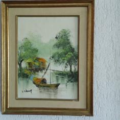 Tablou pictura ulei marin - Tablou autor neidentificat, Marine, Realism