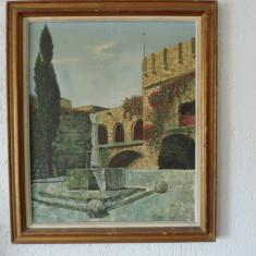 Tablou pictura ulei pe panza, Peisaje, Realism