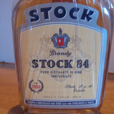 3 sticle brandy stock 84 - italy cl 25 gr 40 - ani 1950 -1960 - Cognac
