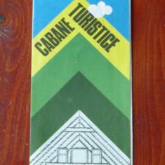 Harta turistica - Cabane turistice ROMANIA - perioada comunista - anii 80 !!!