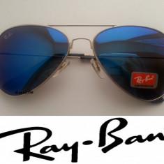 Ochelari de soare Ray Ban Aviator, Unisex, Metal, Protectie UV 100%